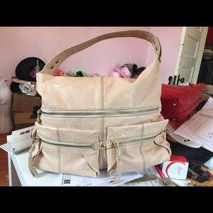 Kooba tan leather hobo handbag